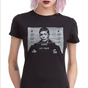Super natural dean Winchester city police T-shirt